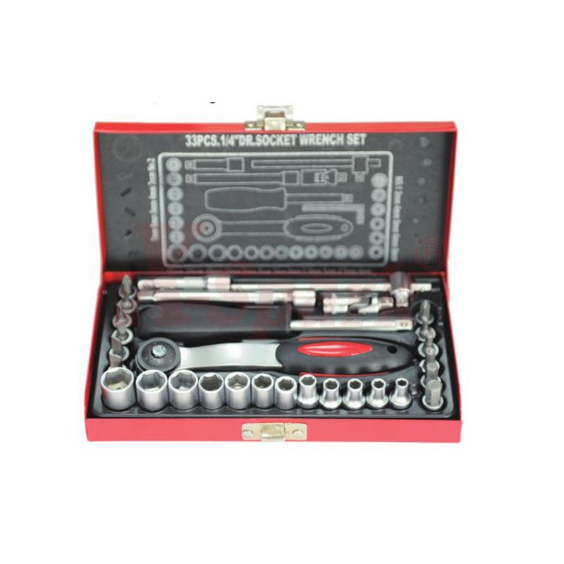 4311 33pcs 1/4 Dr Socket Wrench Set